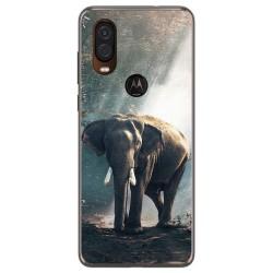 Funda Gel Tpu para Motorola One Vision diseño Elefante Dibujos