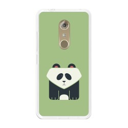Funda Gel Tpu para Zte Axon 7 Diseño Panda Dibujos