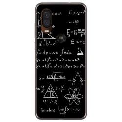 Funda Gel Tpu para Motorola One Vision diseño Formulas Dibujos
