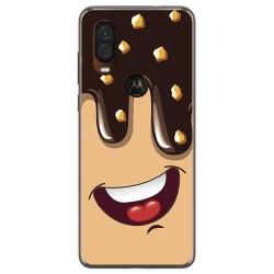 Funda Gel Tpu para Motorola One Vision diseño Helado Chocolate Dibujos