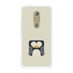 Funda Gel Tpu para Zte Axon 7 Diseño Pingüino Dibujos