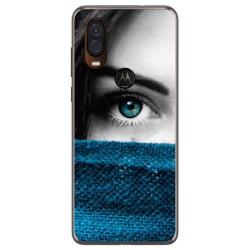 Funda Gel Tpu para Motorola One Vision diseño Ojo Dibujos