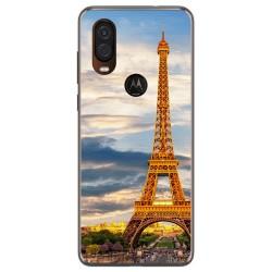Funda Gel Tpu para Motorola One Vision diseño Paris Dibujos