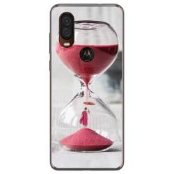 Funda Gel Tpu para Motorola One Vision diseño Reloj Dibujos