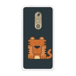Funda Gel Tpu para Zte Axon 7 Diseño Tigre Dibujos
