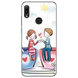 Funda Gel Tpu para Huawei Y6 2019 / Y6s 2019 diseño Café Dibujos