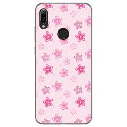 Funda Gel Tpu para Huawei Y6 2019 / Y6s 2019 diseño Flores Dibujos
