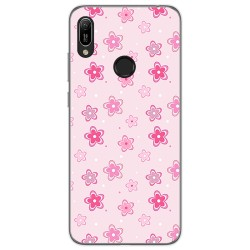 Funda Gel Tpu para Huawei Y6 2019 diseño Flores Dibujos