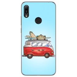 Funda Gel Tpu para Huawei Y6 2019 / Y6s 2019 diseño Furgoneta Dibujos