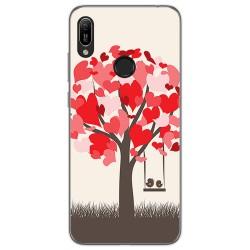 Funda Gel Tpu para Huawei Y6 2019 diseño Pajaritos Dibujos