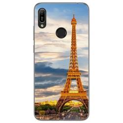 Funda Gel Tpu para Huawei Y6 2019 diseño Paris Dibujos
