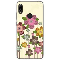Funda Gel Tpu para Huawei Y6 2019 diseño Primavera En Flor Dibujos