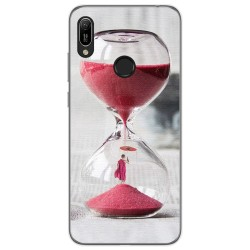 Funda Gel Tpu para Huawei Y6 2019 diseño Reloj Dibujos