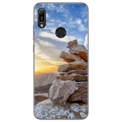 Funda Gel Tpu para Huawei Y6 2019 diseño Sunset Dibujos