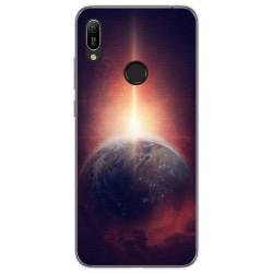 Funda Gel Tpu para Huawei Y6 2019 diseño Tierra Dibujos