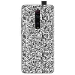 Funda Gel Tpu para Xiaomi Mi 9T diseño Letras Dibujos
