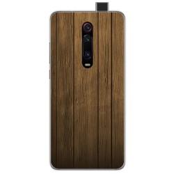 Funda Gel Tpu para Xiaomi Mi 9T diseño Madera Dibujos