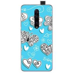 Funda Gel Tpu para Xiaomi Mi 9T diseño Mariposas Dibujos