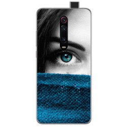 Funda Gel Tpu para Xiaomi Mi 9T diseño Ojo Dibujos