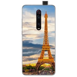 Funda Gel Tpu para Xiaomi Mi 9T diseño Paris Dibujos