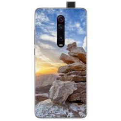 Funda Gel Tpu para Xiaomi Mi 9T diseño Sunset Dibujos