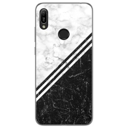 Funda Gel Tpu para Huawei Y6 2019 diseño Mármol 01 Dibujos