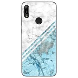Funda Gel Tpu para Huawei Y6 2019 diseño Mármol 02 Dibujos
