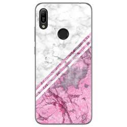 Funda Gel Tpu para Huawei Y6 2019 diseño Mármol 03 Dibujos