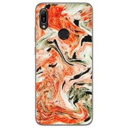 Funda Gel Tpu para Huawei Y6 2019 diseño Mármol 12 Dibujos