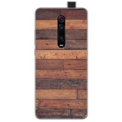 Funda Gel Tpu para Xiaomi Mi 9T diseño Madera 03 Dibujos
