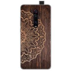 Funda Gel Tpu para Xiaomi Mi 9T diseño Madera 06 Dibujos