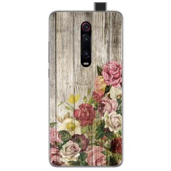 Funda Gel Tpu para Xiaomi Mi 9T diseño Madera 08 Dibujos