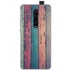 Funda Gel Tpu para Xiaomi Mi 9T diseño Madera 10 Dibujos