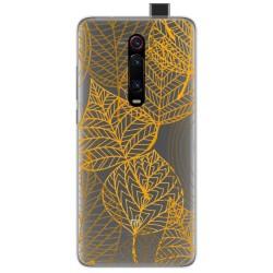 Funda Gel Transparente para Xiaomi Mi 9T / Mi 9T Pro diseño Hojas Dibujos
