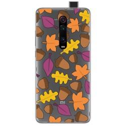 Funda Gel Transparente para Xiaomi Mi 9T / Mi 9T Pro diseño Otoño Dibujos