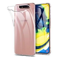 Funda Gel Tpu Fina Ultra-Thin 0,5mm Transparente para Samsung Galaxy A80