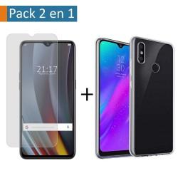 Pack 2 En 1 Funda Gel Transparente + Protector Cristal Templado para Realme 3 Pro