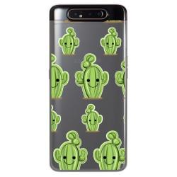 Funda Gel Transparente para Samsung Galaxy A80 diseño Cactus Dibujos
