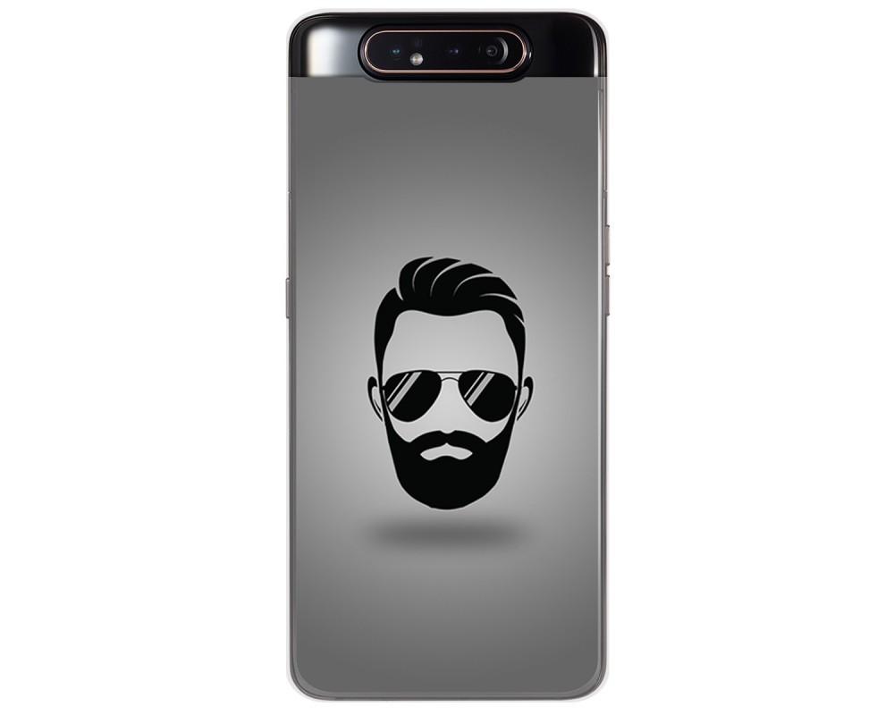 Funda Gel Tpu para Samsung Galaxy A80 diseño Barba Dibujos