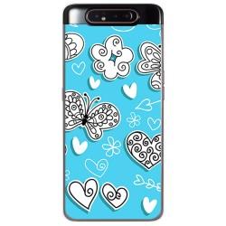 Funda Gel Tpu para Samsung Galaxy A80 diseño Mariposas Dibujos