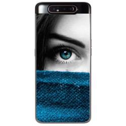 Funda Gel Tpu para Samsung Galaxy A80 diseño Ojo Dibujos