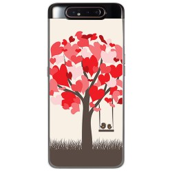 Funda Gel Tpu para Samsung Galaxy A80 diseño Pajaritos Dibujos