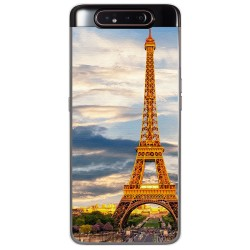 Funda Gel Tpu para Samsung Galaxy A80 diseño Paris Dibujos