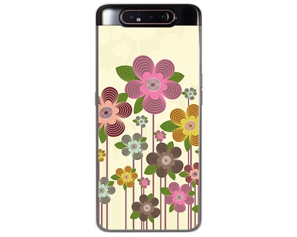 Funda Gel Tpu para Samsung Galaxy A80 diseño Primavera En Flor Dibujos