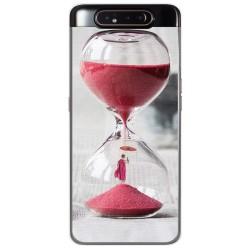 Funda Gel Tpu para Samsung Galaxy A80 diseño Reloj Dibujos