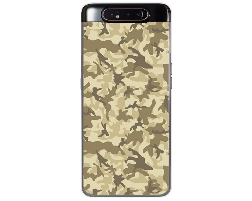 Funda Gel Tpu para Samsung Galaxy A80 diseño Sand Camuflaje Dibujos