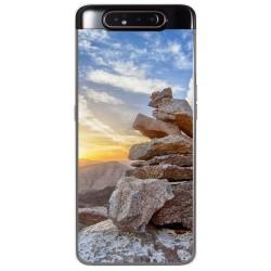 Funda Gel Tpu para Samsung Galaxy A80 diseño Sunset Dibujos