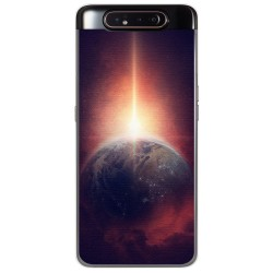 Funda Gel Tpu para Samsung Galaxy A80 diseño Tierra Dibujos