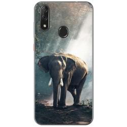 Funda Gel Tpu para Zte Blade V10 diseño Elefante Dibujos