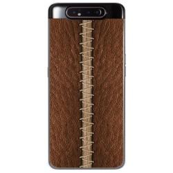Funda Gel Tpu para Samsung Galaxy A80 diseño Cuero 01 Dibujos